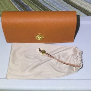 Tory Burch eyeglass holder and storage bag